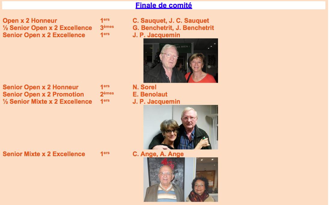Finale Comité