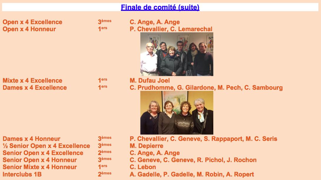 Finale Comité (suite)